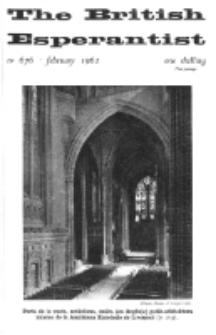 The British Esperantist : the official organ of the British Esperanto Association. Vol. 58, no 676 (February 1962)