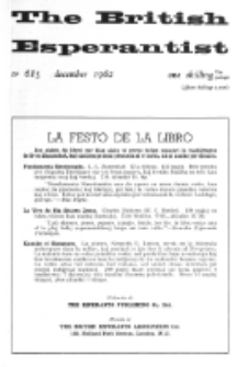 The British Esperantist : the official organ of the British Esperanto Association. Vol. 58, no 685 (December 1962)