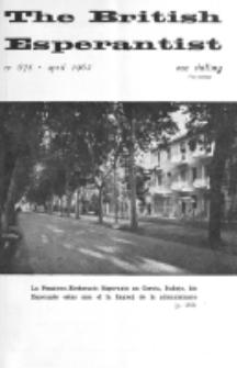 The British Esperantist : the official organ of the British Esperanto Association. Vol. 58, no 678 (April 1962)