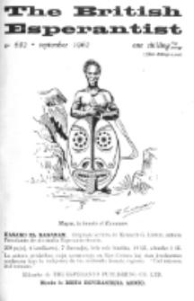 The British Esperantist : the official organ of the British Esperanto Association. Vol. 58, no 682 (September 1962)