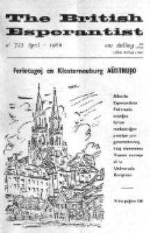 The British Esperantist : the official organ of the British Esperanto Association. Vol. 62, no 722 (April 1966)