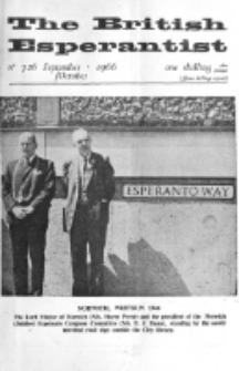 The British Esperantist : the official organ of the British Esperanto Association. Vol. 62, no 726 (September-October 1966)