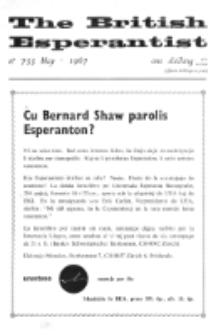 The British Esperantist : the official organ of the British Esperanto Association. Vol. 63, no 733 (April 1967)
