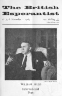 The British Esperantist : the official organ of the British Esperanto Association. Vol. 63, no 738 (November 1967)