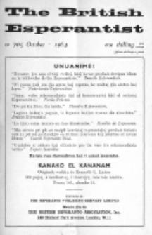 The British Esperantist : the official organ of the British Esperanto Association. Vol. 60, no 705 (October 1964)