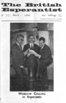 The British Esperantist : the official organ of the British Esperanto Association. Vol. 65, no 753 (March 1969)