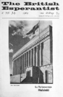 The British Esperantist : the official organ of the British Esperanto Association. Vol. 65, no 756 (July 1969)