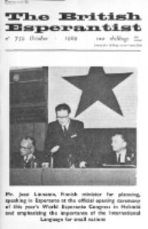 The British Esperantist : the official organ of the British Esperanto Association. Vol. 65, no 759 (October 1969)
