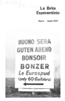 The British Esperantist : the official organ of the British Esperanto Association. Vol. 75, no 828 (Marto-Aprilo 1979)