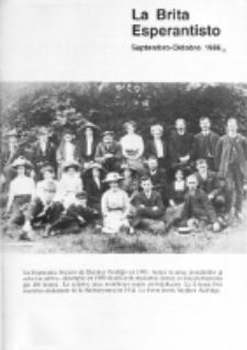 The British Esperantist : the official organ of the British Esperanto Association. Vol. 82, no 872 (Septembro-Oktobro 1986)
