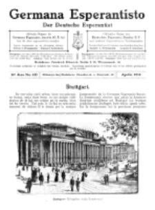 Germana Esperantisto : monata gazeto por la vastigado de la lingvo Esperanto.Jaro 10a, No 4b (aprilo1913)