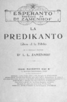 La Predikanto : libro el la Biblio