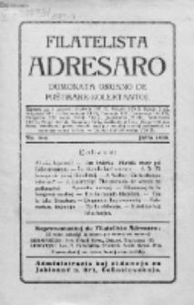 Filatelista Adresaro : dumonata organo de Poŝtmark-Kolektantoj. No 4 (Julio 1930)