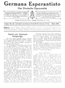 Germana Esperantisto : monata gazeto por la vastigado de la lingvo Esperanto. Jaro 9a, No 3a (marto1912)