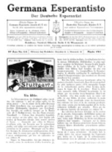 Germana Esperantisto : monata gazeto por la vastigado de la lingvo Esperanto.Jaro 10a, No 3a (marto1913)