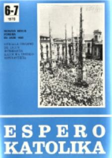 Espero Katolika.Jarkolekto 75, No 6/7=684/685 (1978)