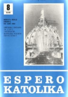 Espero Katolika.Jarkolekto 75, No 8=686 (1978)