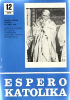 Espero Katolika.Jarkolekto 75, No 12=690 (1978)
