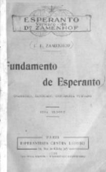 Fundamento de Esperanto : gramatiko, ekzercaro, universala vortaro. Sesa Eldono.