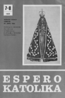 Espero Katolika.Jarkolekto 78, No 7/8=721/722 (1981)