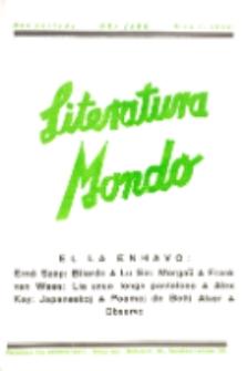 Literatura Mondo. Periodo 2, Jaro 8, numero 1 (1938)