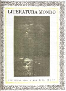 Literatura Mondo. Jaro 4, numero 9 (Septembro 1925)