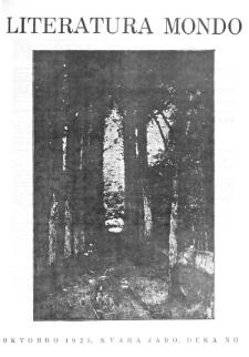 Literatura Mondo. Jaro 4, numero 10 (Oktobro 1925)