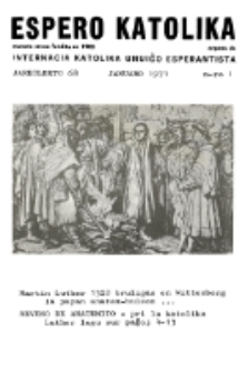 Espero Katolika.Jarokolekto 68, No 1 (1971)
