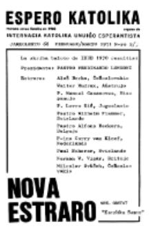 Espero Katolika.Jarokolekto 68, No 2/3 (1971)