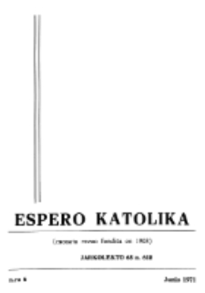 Espero Katolika.Jarkolekto 68, No 6 (1971)