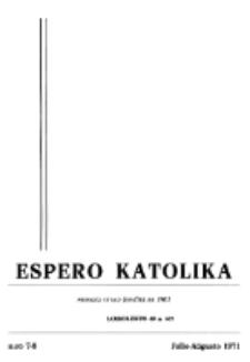 Espero Katolika.Jarkolekto 68, No 7/8 (1971)