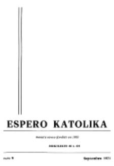 Espero Katolika.Jarkolekto 68, No 9 (1971)