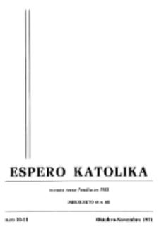Espero Katolika.Jarkolekto 68, No 10/11 (1971)