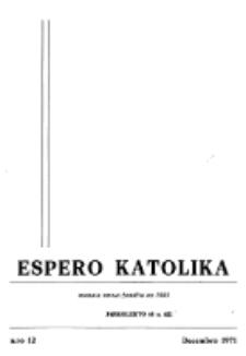 Espero Katolika.Jarkolekto 68, No 12 (1971)