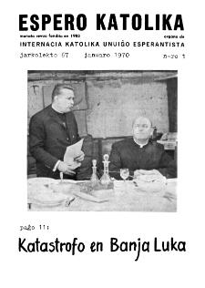 Espero Katolika.Jarkolekto 67, No 1 (1970)