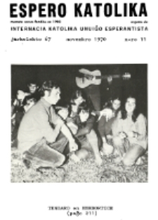 Espero Katolika.Jarkolekto 67, No 11 (1970)