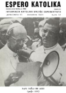 Espero Katolika.Jarkolekto 67, No 12 (1970)