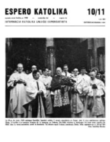 Espero Katolika.Jarkolekto 66, No 10/11=602 (1969)