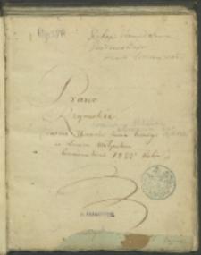 Prawo rzymskie dawane uczniom kursu trzeciego w Liceum Wołyńskim Krzemienieckim 1822 roku