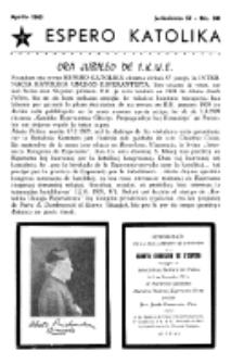 Espero Katolika.Jarkolekto 57, No 501 (1960)
