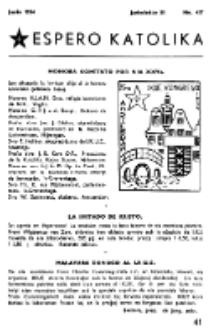 Espero Katolika.Jarkolekto 51, No 437 (1954)