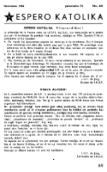 Espero Katolika.Jarkolekto 51, No 442 (1954)