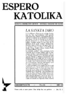 Espero Katolika.Jarkolekto 47, No 394 (1950)