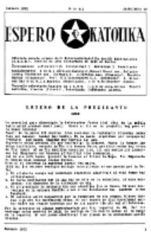 Espero Katolika.Jarokolekto 49, No 412 (1952)