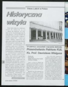 Przemówienie Rektora KUL Ks. Prof. Stanisława Wielgusa na uroczystości wręczenia doktoratu honoris causa KUL Chiarze Lubich.