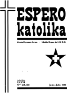 Espero Katolika.Jaro 36a, No 169/170 (1939)