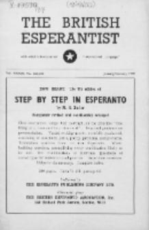The British Esperantist : the official organ of the British Esperanto Association. Vol. 37, no 525/526 (January/February 1949)