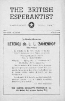 The British Esperantist : the official organ of the British Esperanto Association. Vol. 37, no 529/530 (May/June 1949)