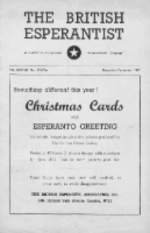 The British Esperantist : the official organ of the British Esperanto Association. Vol. 37, no 535/536 (November/December 1949)