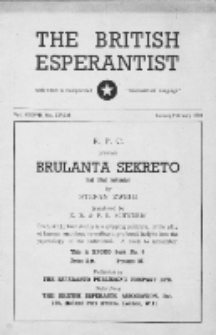 The British Esperantist : the official organ of the British Esperanto Association. Vol. 37, no 537/538 (January/February 1950)